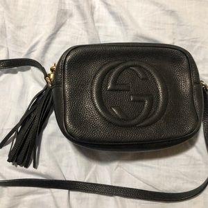 Black Gucci soho crossbody purse